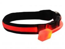 Zgarda pentru Caini Reglabila cu Lumini LED