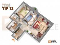 Apartament 3 camere - Tip 12 - Centru