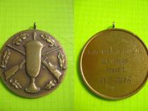 Medalia Tir-Vanator D.K. Hagen Franz1 1976 cca 4 cm.
