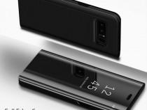 Samsung S9 Plus - Flip Case Clear View Oglinda Negru Auriu