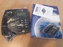 Telefon fix (portabil cu baterii,afisaj iluminat,calculator