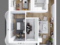 Apartament 3 camere, decomandat , 88.53mp! Metalurgie