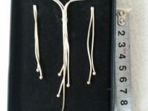 Set cercei și colier din argint