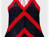 Bluza croșetată cu mărgele (unicat)