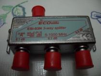 ECOline+, splitter 3 si 4 cai, clasa A, 5-1000 MHz, noi,