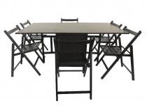 Set masa plianta din lemn + 6 scaune (noi)