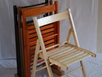 Scaune pliante lemn noi (pret producator)