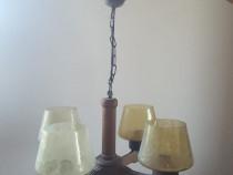 Lampa, lustra din lemn