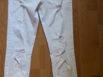 Pantaloni dama noi albi denim Reserved