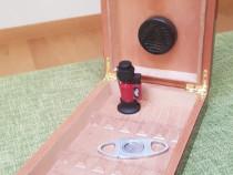 Cutie lemn fin Umidificator 15 Trabuc Cigar Havane cu HIGROM