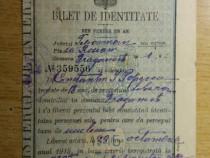 Bilet de identitate - emis in anul 1915 !!!