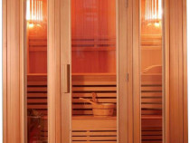 Sauna uscata finlandeza pentru 5 persoane 2000 x 2080 x 2000
