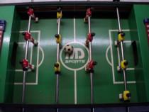 VINTAGE Joc de fotbal WD Sports de masa pentru copii (lemn)