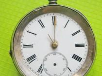 9720-Kendal & Denl London Swiss-Ceas buzunar antic argint.