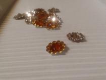 Strasuri baza conica cu cristale, orange - charm, accesorii