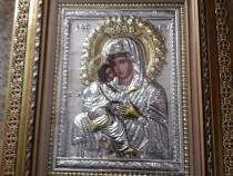 Icoana argintata - Maica Domnului - Dulcea Sarutare