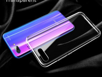 Pachet Husa Silicon Clar + Folie Sticla - Huawei Y5/Y6/Y7
