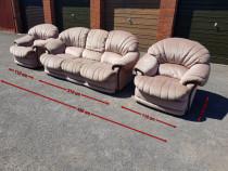 Canapea 3 locuri + 2 × fotolii + tamburel