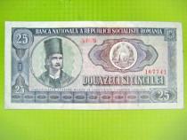 Bancnota 25 lei RSR 1966 circulata stare buna.