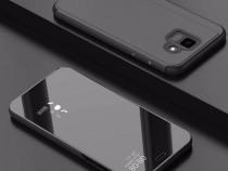 Samsung J6 2018 - Flip Case Clear View Negru, Auriu
