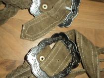 Bretele piele pentru pantaloni bavarezi sau alte modele
