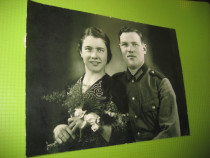 WW2-Al 3 lea Reich Germania- Foto originala-Militar cu sotia