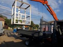 Efectuez transport autoutilitara basculabila cu macara 3.5 t