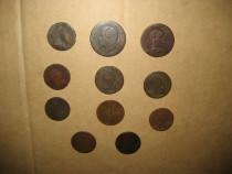 Set 11 Monede bronz vechi majoritatea Austria uzate 17-1800.