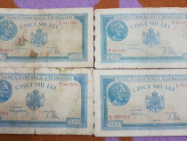 14Bancnote 5000lei puse in circulatie in anii 1943-1944-1945