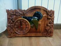 Executam Ceasuri sculptate din lemn masiv, fag