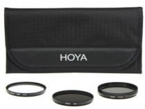 Set de 3 filtre foto Hoya 72 mm (UV + PL CIR + Warm)
