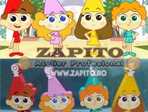 Set 4 figurine animate Bucatarii Vrajitori Trulii Tales