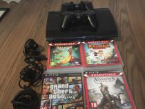 PS3 super slim in stare foarte buna+4 jocuri