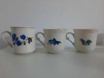 Cana / Ceasca portelan alba cu model floral colorat - Noua