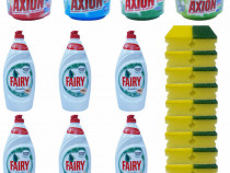 6x Fairy Sensitive cu menta + 4x Axion + 10 x Bureti de vase