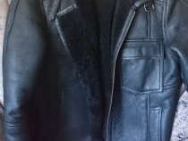 Cojoc haina unisex piele si blana naturala model Pilot 42-44