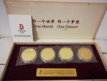 Set medalii comemorative Olimpiada Beijing 2008 placate cu a