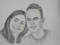 Realizez portrete in creion