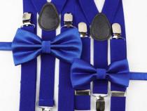 Set bretele + papion bărbați, nou