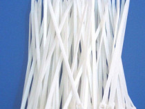 Colier plastic 2,5x150mm, alb, 100 bucati - 134504