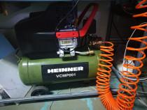 Compresor Heinner VCMP001 24 l 2CP 8 Bar + furtun + pistol