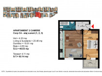 Apartament 2 camere, pret accesibil, zona linistita Central