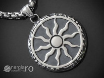 Amuleta Pandant Pandantiv Soare Simbol Solar INOX-cod PND176