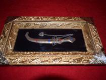 Tablou tip casete cu un jungher in interior 37x21 cm