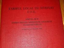 1973 - Tariful Local de marfuri C.F.R