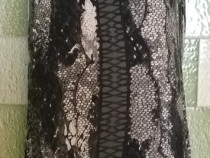 Top animal print asimetric fermoar metalic la spate catarame