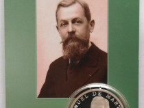 10 lei 2019 moneda argint PROOF Emmanuel de Martonne