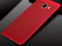 Samsung J6 - Husa Ultra Slim Din Plastic Perforat Rosie, Ne