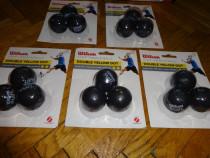 Mingii Squash Wilson Staff Premium Balls, Punct Dublu Galben