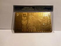 Bancnota 100 LEI Centenar Unire aur 24k certificat 2018